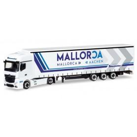 "Herpa 309240 Mercedes-Benz Actros Gigaspace lowliner semitrailer ""Logispeed S.L. | Schumacher"""
