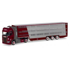 Herpa 309264 Scania CS high roof cattle carrier semitrailer 'Nisch'