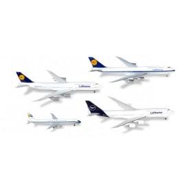Herpa 531313 Flygplan Lufthansa 4-in-1 Set