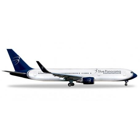Herpa 531559 Flygplan Blue Panorama Boeing 767-300 'città di Milano'