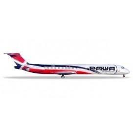 Herpa 531603 Flygplan PAWA Dominicana McDonnell Douglas MD-83