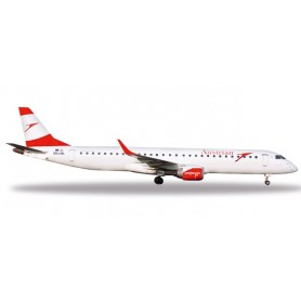 Herpa 531641 Flygplan Austrian Airlines Embraer E195 'City of Prague'