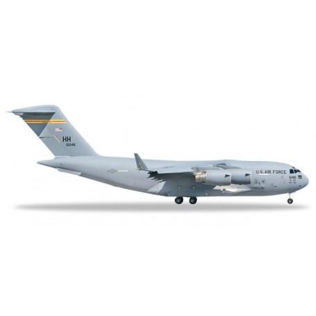 Herpa 531665 Flygplan U.S. Air Force Boeing C-17A Globemaster III - 15th AW, 535th AS, Hickam AFB ? 05-5146 'Spirit of Hawai'...