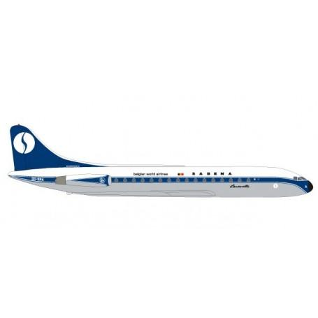 Herpa 531672 Flygplan Sabena Sud Aviation Caravelle