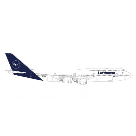 Herpa 559188 Flygplan Lufthansa Boeing 747-8 Intercontinental - new 2018 colors