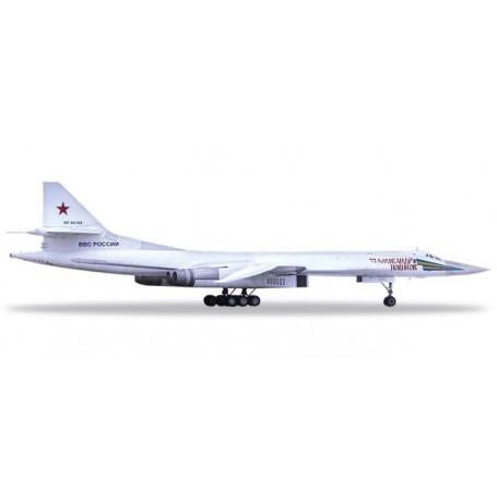 Herpa 559287 Flygplan Russian Air Force Tupolev TU-160 'Blackjack White Swan' - 6950th Guards Air Base, Engels-2 'Alexander N...