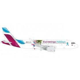Herpa 562676 Flygplan Eurowings Europe Airbus A320 'Eurowings Holidays'