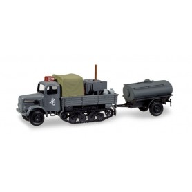Herpa 746328 Magirus Maultier field kitchen with water tank trailer '11. Panzer Division Ostfront'