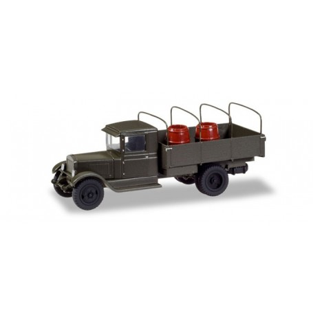 Herpa 746342 ZIS 5 with truck tarp hoops and barrels load 'Sowjetunion 1938-1945'