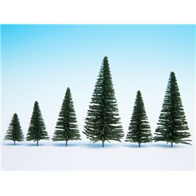 Noch 26831 Fir Trees with Planting Pin, 50 pieces, 5 - 14 cm high