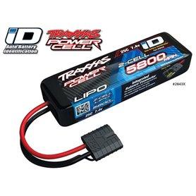 Traxxas 2843X Li-Po Batteri 2S 7,4V 5800mAh 25C iD-kontakt