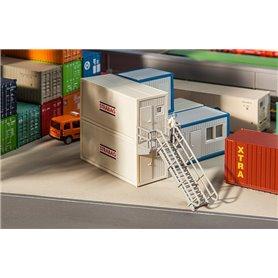Kontorscontainer för byggarbetsplats