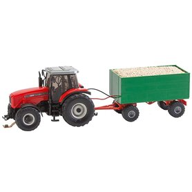 MF Tractor with wood chips trailer (WIKING)
