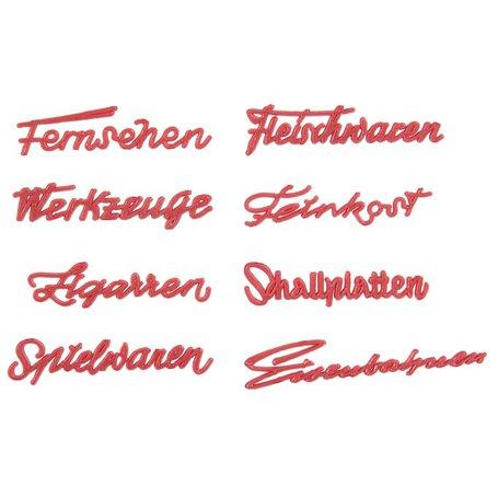 Faller 180962 50s Shop's lettering