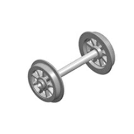 Liliput 939304 Hjulaxel, ekerhjul, 2 st, DC, NEM 311, hjuldiameter 10,5 mm, axellängd 24,7 mm