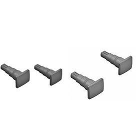 Liliput 969885 Set med 4 buffertar, rektangulära, för N-Skala