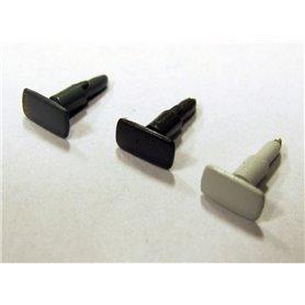 Jeco 43-A109C Buffert, rektangulär, ljusgrå, 1 st