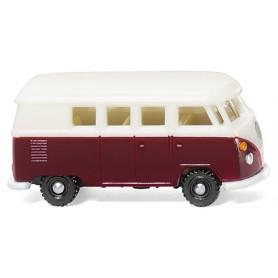 Wiking 93202 VW T1 Buss, vinröd|vit
