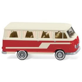 Wiking 27045 Borgward B611 camper van white|red