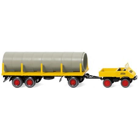 Wiking 39205 Unimog U411 med stolptrailer 'Züblin'