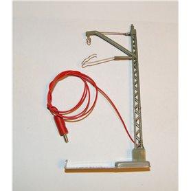 Luftledningsstolpe för anslutning för signal med 1 ledningstråd