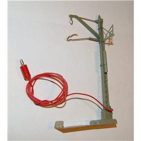 Luftledningsstolpe för anslutning med 2 ledningar