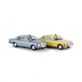 Brekina 13161.1 Mercedes Benz 450 SEL 'Taxa', gul