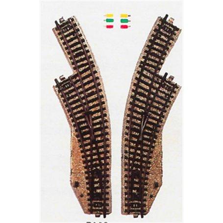 Märklin 5140 Kurvväxelpar elektromagnetisk växel höger och vänster