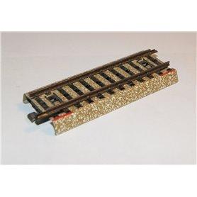 Märklin 5107.1 Funktionsskena rak, längd 90 mm, detta är för järnvägsövergångar