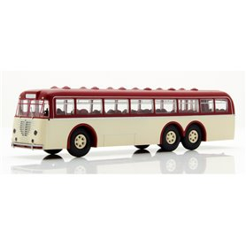 Brekina 59421 Buss Büssing 12000 T rubinröd/elfenben