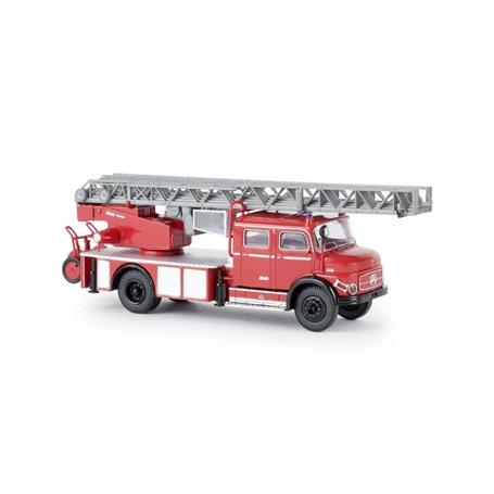 Brekina 47070 Brandbil MB L519 DLK30, röd|svart, TD