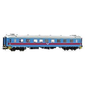 NMJ 203501 Personvagn SJ AB3.4807 1:a/2:a klass röd/blå Inter-Regio färger