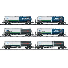 """Trix 24206 Vagnsset med 6 tankvagnar typ Zans och Zacns """"Wascosa"""""""