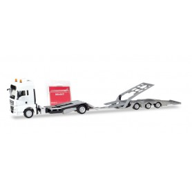 Herpa 013529 Herpa MiniKit. MAN TGX XXL truck-transport-Trailer, white
