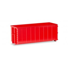Herpa 053884 2 Transport container ribbed, red