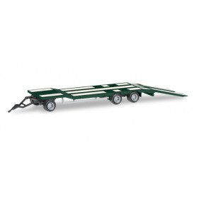 Herpa 076135-005 Goldhofer TU 3 construction site trailer, mossy green