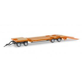 Herpa 076142-006 Goldhofer TU 4 construction site trailer, light red orange