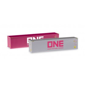 Herpa 076449-005 Container-Set 2x40 ft. 'ONE | ONE'