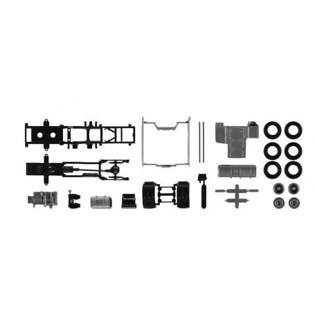 Herpa 084895 Chassis DAF XF with chassis fairing Content. 2 pcs.