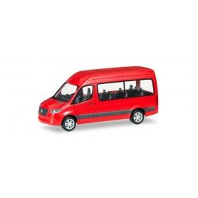 Herpa 093804 Mercedes-Benz Sprinter Bus highroof, red