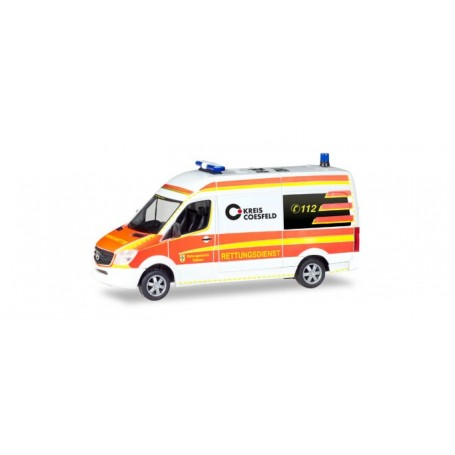 Herpa 093934 Mercedes-Benz Sprinter bus high roof 'Rescue Car Dülmen Emergency Service'