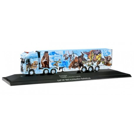 Herpa 121897 DAF XF SSC 6x2 refrigerated box trailer 'Eisinger | Ice Age Truck', PC