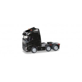Herpa 305792-004 Volvo FH Gl. 6x2 rigid tractor with headlights and two flashing lights, black