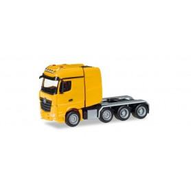 Herpa 307734-002 Mercedes-Benz Arocs Bigspace heavy duty rigid tractor, daffodil yellow