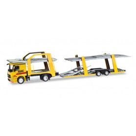 Herpa 308953 Mercedes-Benz Actros car transporter vehicle 'ADAC'