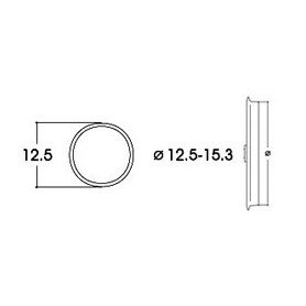 Roco 40075 Slirskydd, för AC lok, för hjuldiameter 12,5 - 15,3 mm, 10 st