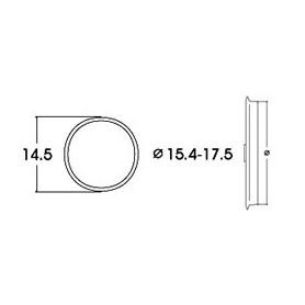 Roco 40076 Slirskydd, för AC lok, för hjuldiameter 15,4 - 17,5 mm, 10 st