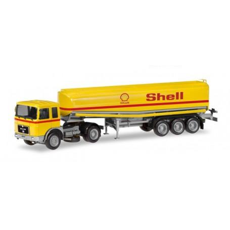 Herpa 309271 MAN F8 fuel tank semitrailer 'Shell'