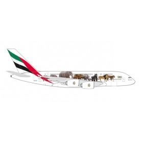 Herpa 531764 Flygplan Emirates Airbus A380 'United for Wildlife'