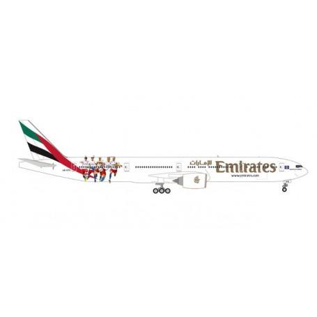 Herpa 559034 Flygplan Emirates Boeing 777-300ER 'Hamburger SV'